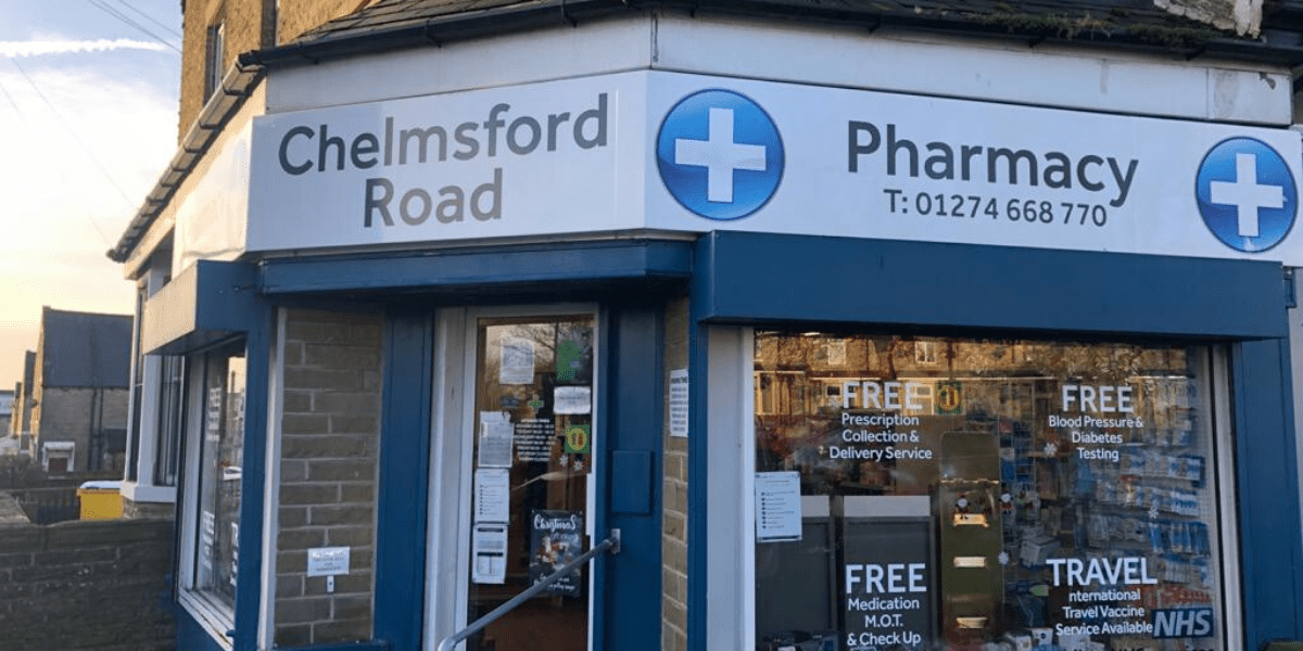 Chelmsford Road Pharmacy storefront