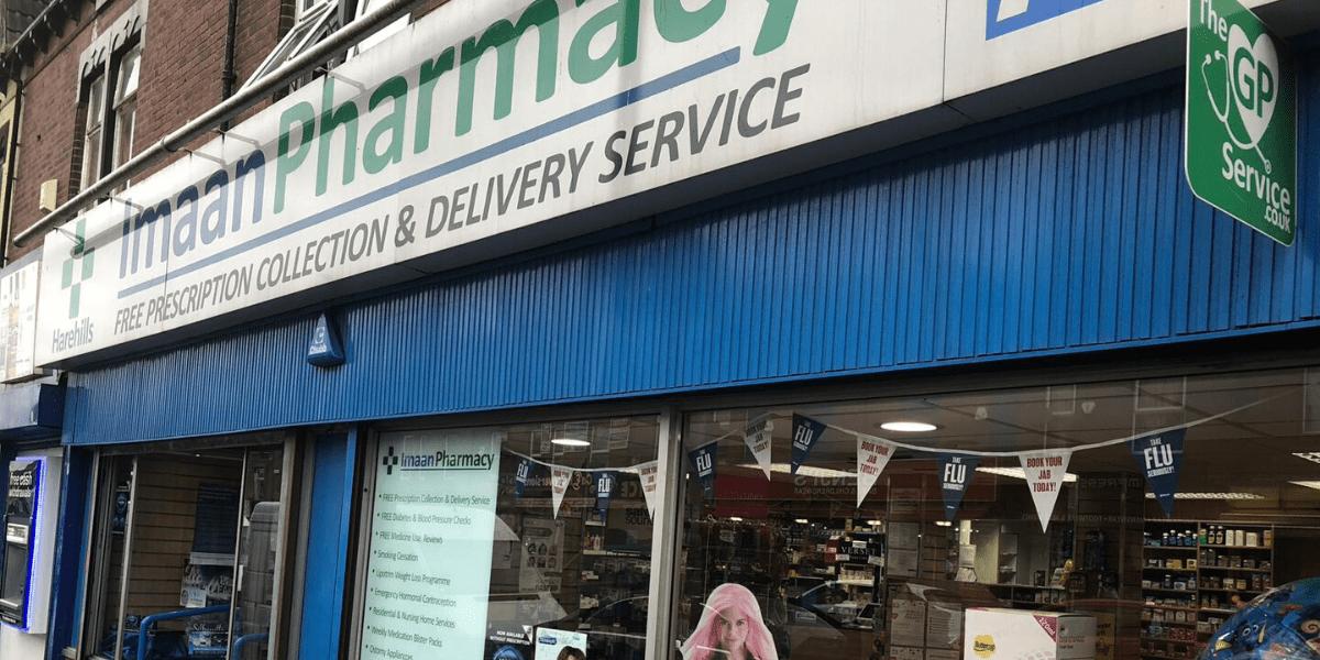 Imaan Pharmacy Harehills storefront