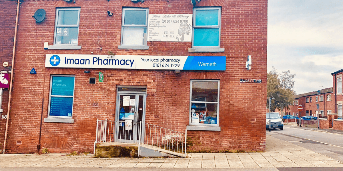 Imaan pharmacy Werneth storefront