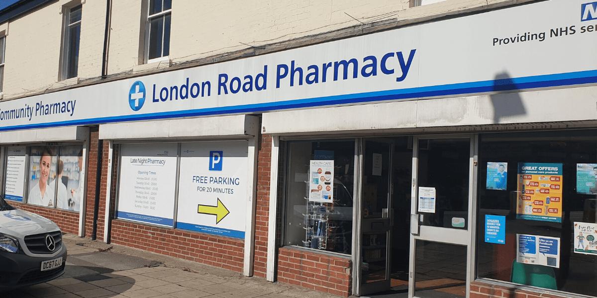 London Road Pharmacy storefront