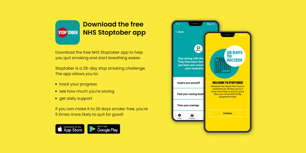Download the free NHS Stoptober app