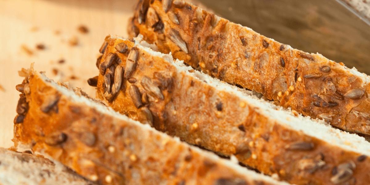 Close up of bread crust